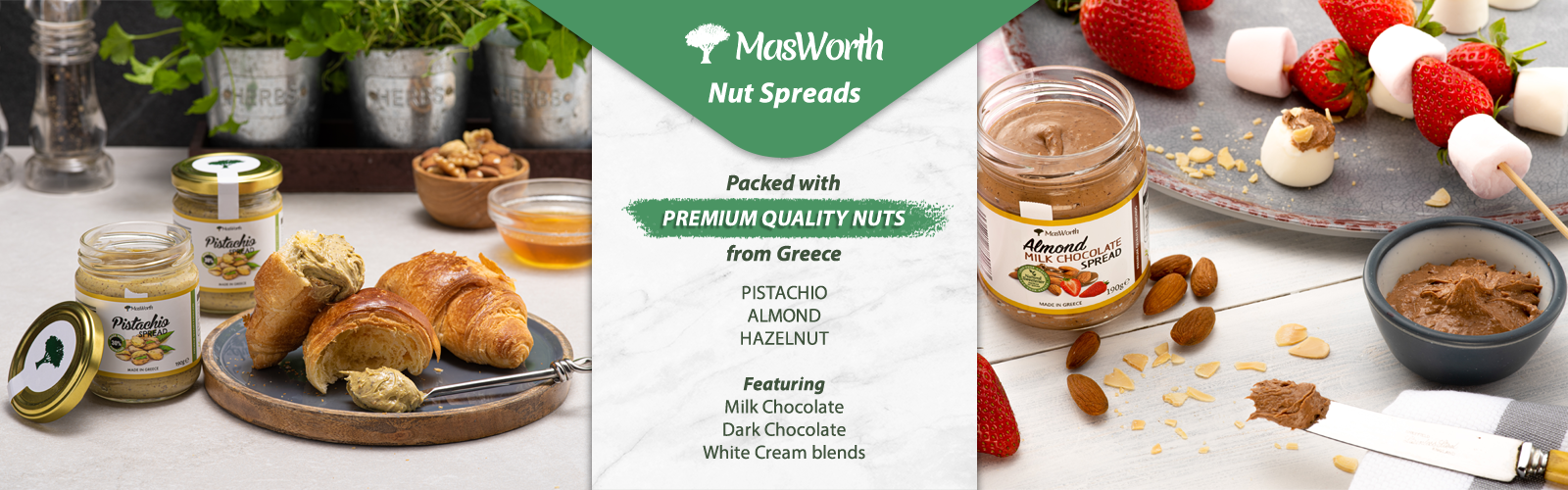 Nut Spreads Homepage Banner